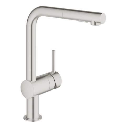 Grohe Minta Single-Handle Kitchen Faucet SuperSteel InfinityFinish