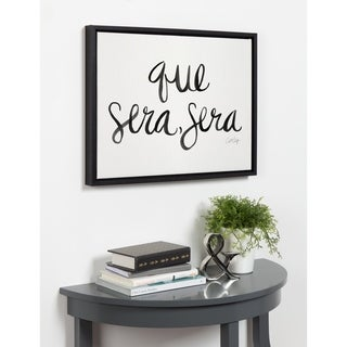 Kate and Laurel Sylvie Que Sera Sera Framed Canvas by Cat Coquillette - Black - 18x24