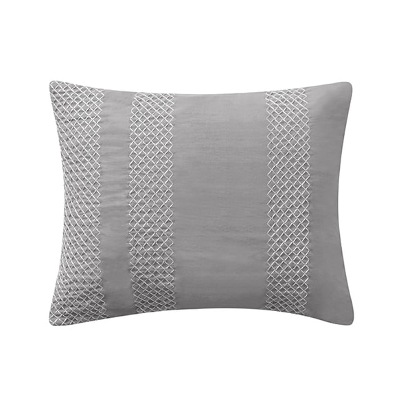 Washed Cotton Rectangle Pillow in Grey