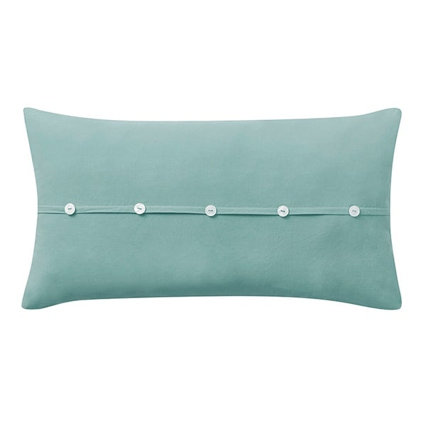 Washed Cotton Oblong Pillow in Blue