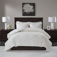Madison Park Nova Embroidered Medallion Ultra Plush Full/Queen Size Comforter Mini Set in Ivory (As Is Item)