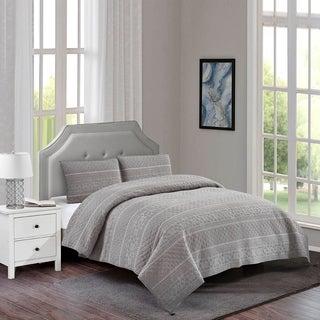 Baymouth Cotton Quilt Set in Grey