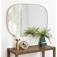 Kate and Laurel Caskill Rounded Rectangle Gold Leaf Wall Mirror