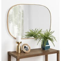 Kate and Laurel Caskill Rounded Rectangle Gold Leaf Wall Mirror - 24x36