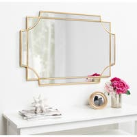 Kate and Laurel Minuette Decorative Rectangle Wall Mirror - Gold - 24x36
