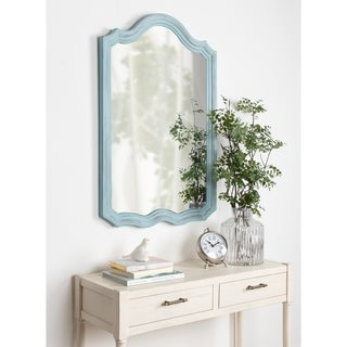 Kate and Laurel Abrianna Blue Wood Finish Decorative Vintage Wall Mirror