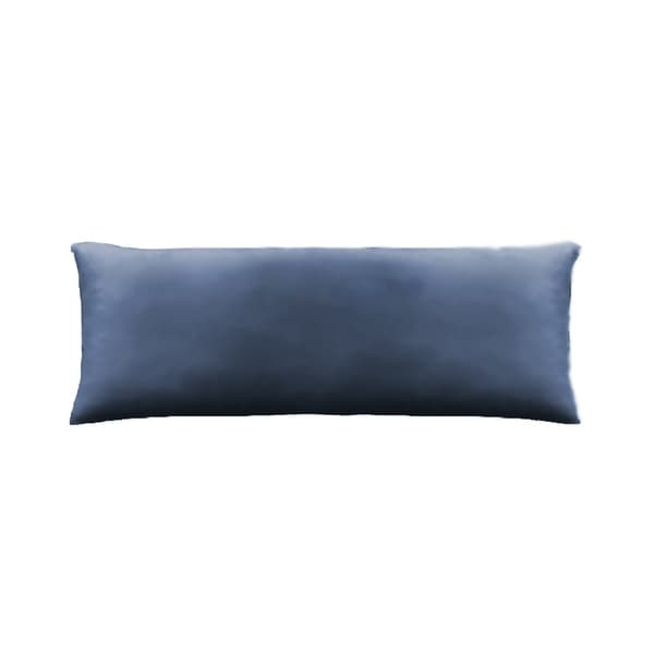 Jersey Knit Cotton Oblong Body Pillow in Blue
