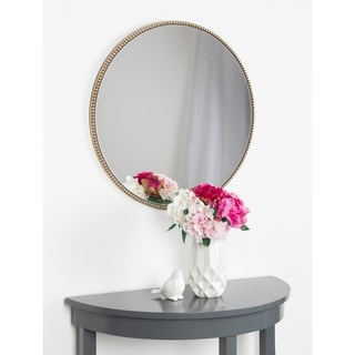 """Link to Kate and Laurel Gwendolyn Round Beaded Accent Wall Mirror - Gold - 23.6"""" diameter Similar Items in Mirrors"""