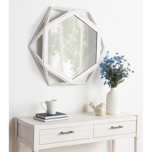 Kate and Laurel Cortland Wood Framed Mirror. Opens flyout.