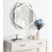 """Kate and Laurel Cortland Wood Framed Mirror - 27"""" diameter"""