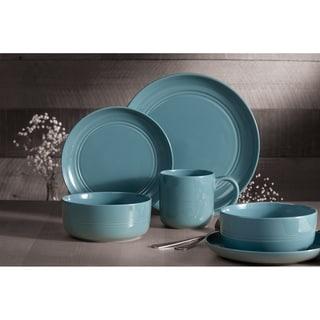 Link to Dinnerset 16Pcs Blue Stoneware Ridge Similar Items in Dinnerware