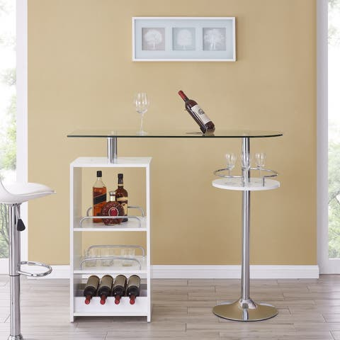 Silver Orchid Hinding Tall Wine/Bar Table