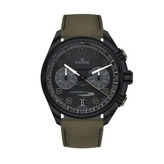 Edox 09503 37NNVCV NNV Men's Chronorally Black Quartz Watch