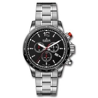 EDOX 10229 3M NIN Men's Chronorally S Grey Quartz Watch