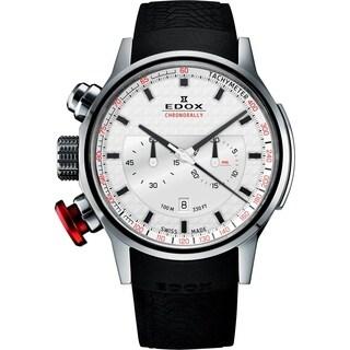 Edox 10302 3 AIN Men's Chronorally Silver Quartz Watch