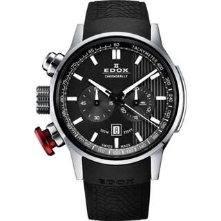 Edox 10302 3 GIN Men's Chronorally Gray Quartz Watch