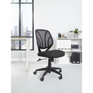 Work Smart Screen Back Armless Task Chair