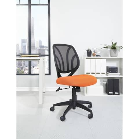 Work Smart Screen Back Armless Task Chair