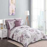 Sienna Printed Comforter Set in Purple