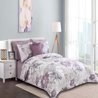 Sienna Printed Comforter Set in Purple