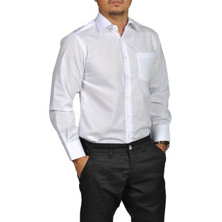 Boltini Brand Mens Fitted Button Down Long Sleeve Dress Shirt White