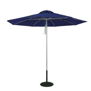MyUmbrellaShop 9 Ft Silver Commercial Market Umbrella with Ocean Blue Cover