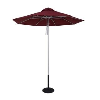 MyUmbrellaShop 9ft Silver Market Umbrella with Jockey Red cover