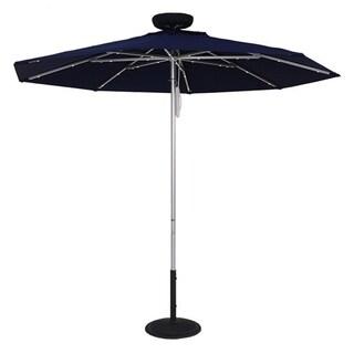 MyUmbrellaShop 7.5 Ft. Illumishade Solar Umbrella with Dark Blue cover