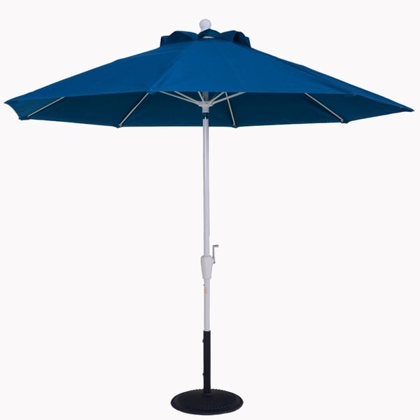 MyUmbrellaShop 7.5 Ft Auto-tilt Market Umbrella with Beach Blue cover