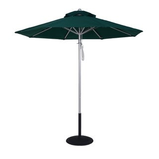 MyUmbrellaShop 9 Ft Silver Commercial Market Umbrella with Forest Green Cover