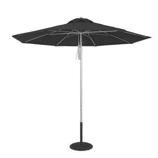 MyUmbrellaShop 9 Ft Silver Commercial Market Umbrella with Black cover