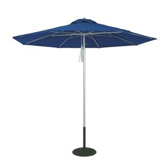 MyUmbrellaShop 9ft Silver Market Umbrella with Beach Blue cover.
