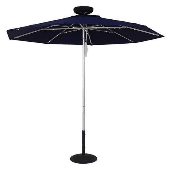 MyUmbrellaShop 9 Ft. Illumishade Solar Umbrella with Dark Blue cover