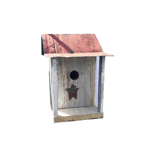 Stupendous Barn Wood Bird House With Porch Interior Design Ideas Philsoteloinfo