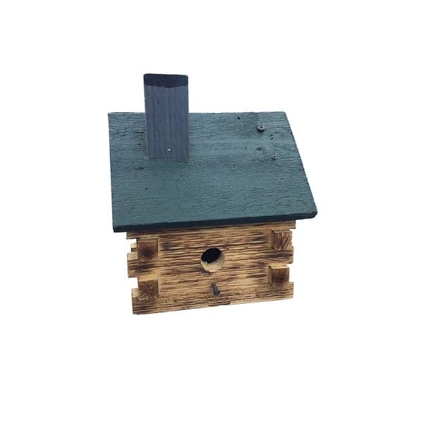 Shop Black Friday Deals On Burnt Pine Log Cabin Wren Bird House Overstock 24148050