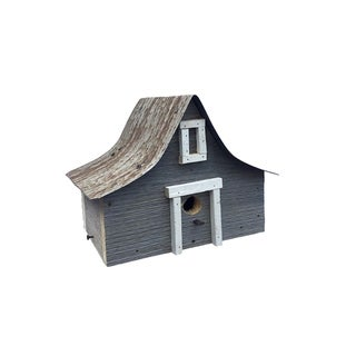 Weathered Pine Antique A-Frame Bird House