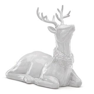 Lenox Alpine Carved Reindeer Centerpiece
