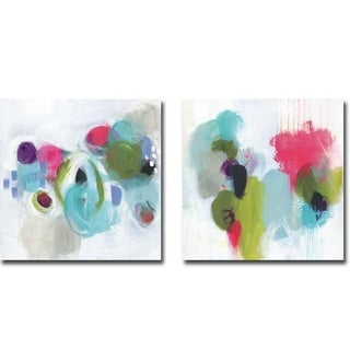 Show Me The World & Something Just Like This by Julie Hawkins 2-piece Gallery Wrapped Canvas Giclee Art Set (Ready to Hang)