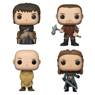 Funko POP! TV Game of Thrones Season 9 Collectors Set - Bran Stark, Gendry, Lord Varys, Yara Greyjoy