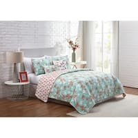 VCNY Home Jasmine Reversible Floral Quilt Set