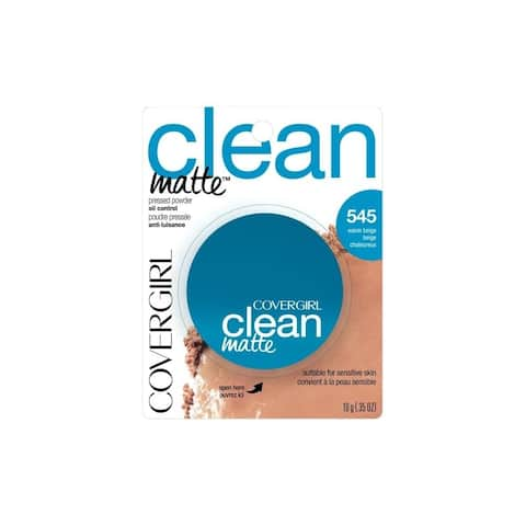 CoverGirl Clean Matte Pressed Powder Oil Control 545 Warm Beige