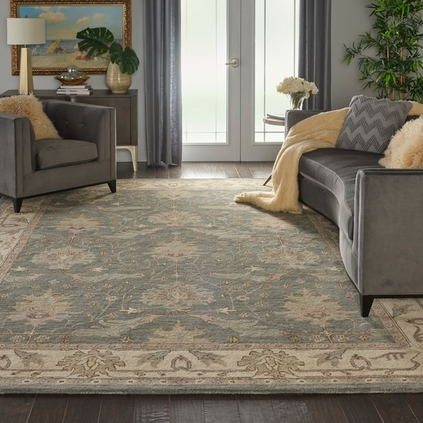 Nourison India House Charcoal Ivory Traditional Area Rug - 9' x 12'