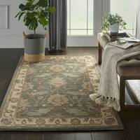 Nourison India House Charcoal Ivory Traditional Area Rug - 3'6 X 5'6