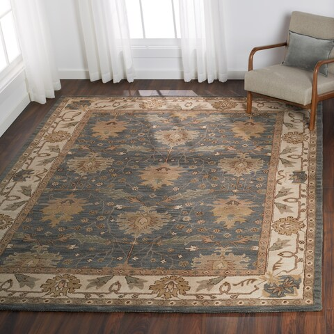 """Nourison India House Charcoal Ivory Traditional Area Rug - 8' x 10'6"""""""