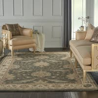 Nourison India House Charcoal Ivory Traditional Area Rug - 6'6 x 9'6