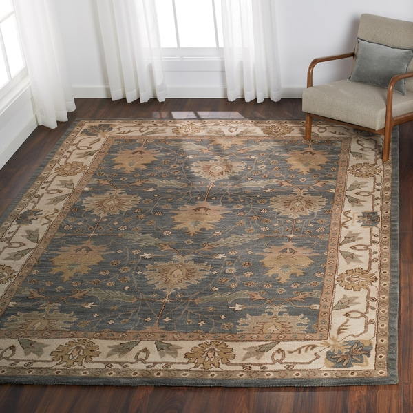Nourison India House Charcoal Ivory Traditional Area Rug - 5' x 8'