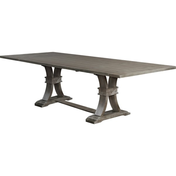 Shop Best Quality Furniture Rustic Grey Extension Dining
