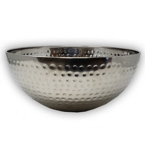 """Hammered Stainless Steel Mixing Bowl 11.2"""""""
