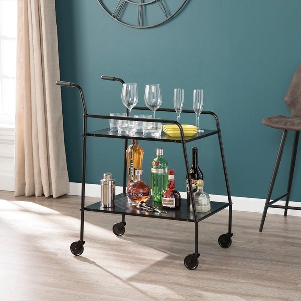Carbon Loft Meadmore Black Metal Bar Cart