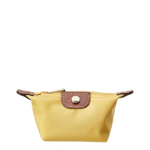Longchamp Le Pliage Nylon Coin Purse, Yellow